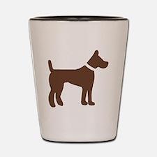 dog brown 3 Shot Glass