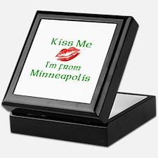 Kiss Me I'm from Minneapolis Keepsake Box