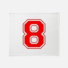 8-var red Throw Blanket