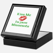 Kiss Me I'm from Minnesota Keepsake Box
