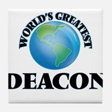 World's Greatest Deacon Tile Coaster