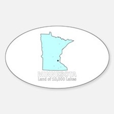 Minnesota . . . Land of 10,00 Oval Decal