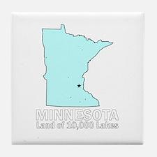 Minnesota . . . Land of 10,00 Tile Coaster