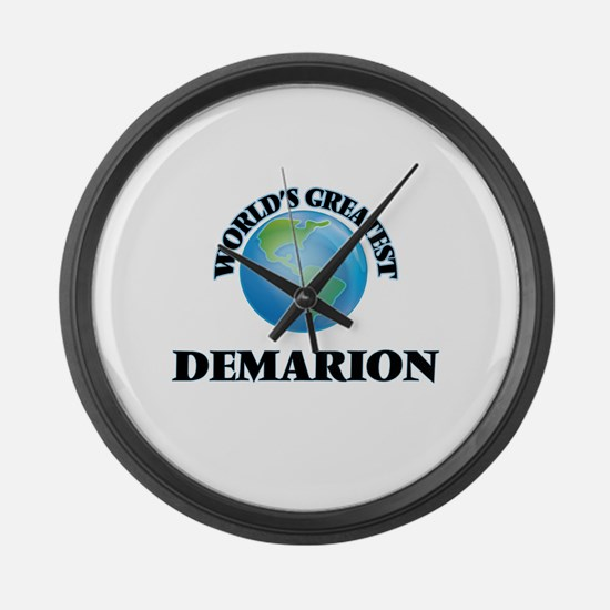 World's Greatest Demarion Large Wall Clock