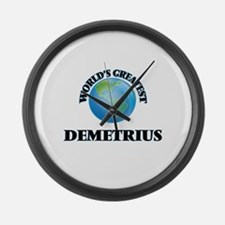 World's Greatest Demetrius Large Wall Clock