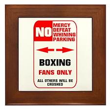NO PARKING Boxing Framed Tile