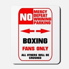 NO PARKING Boxing Mousepad