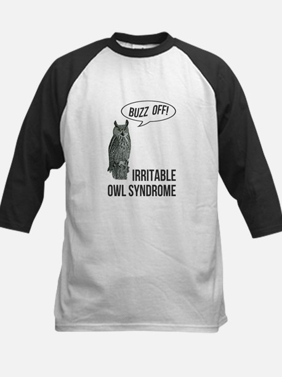 Irritable Owl Syndrome Kids Baseball Jersey