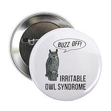 """Irritable Owl Syndrome 2.25"""" Button"""