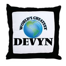 World's Greatest Devyn Throw Pillow