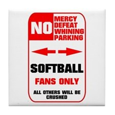 NO PARKING Softball Tile Coaster