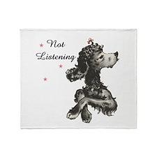 NOT LISTENING Throw Blanket