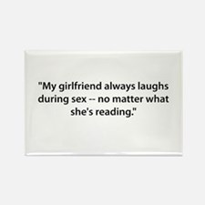 Laughs during Sex Rectangle Magnet