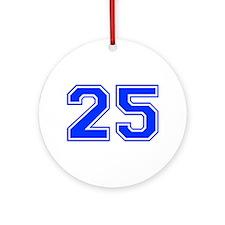 25-var red Ornament (Round)