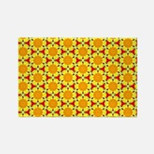 Pop of Poppies Flower Pattern Rectangle Magnet