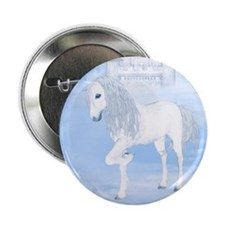"The White Unicorn 2.25"" Button (100 pack)"