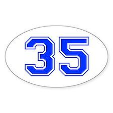 35-var red Decal