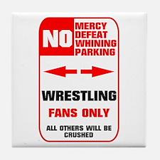 NO PARKING Wrestling Tile Coaster