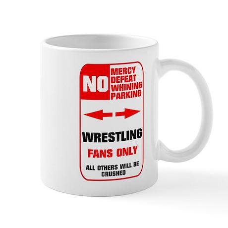 NO PARKING Wrestling Mug
