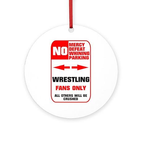 NO PARKING Wrestling Ornament (Round)
