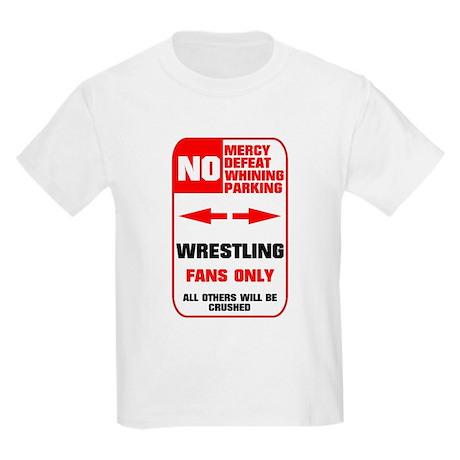 NO PARKING Wrestling Kids Light T-Shirt