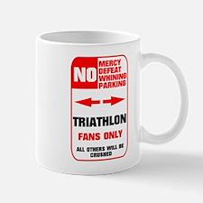 NO PARKING Triathlon Sign Mug