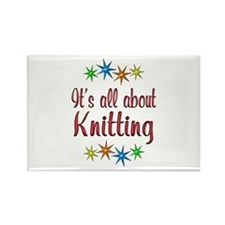 About Knitting Rectangle Magnet