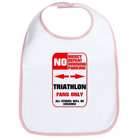 NO PARKING Triathlon Sign Bib