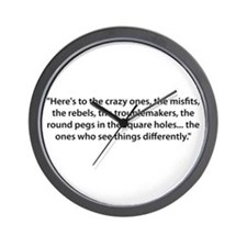 To the Misfits Wall Clock