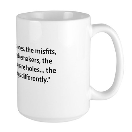 To the Misfits Large Mug