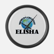 World's Greatest Elisha Large Wall Clock