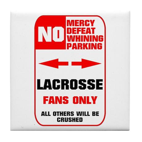NO PARKING Lacrosse Sign Tile Coaster