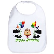 Birthday Pandas Bib