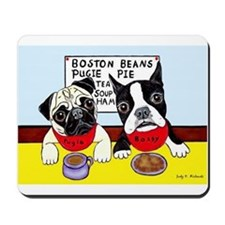 """Dinner at the Diner"" mousepad"