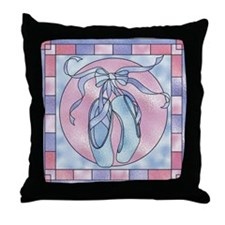 Cute Ballet music boxes Throw Pillow