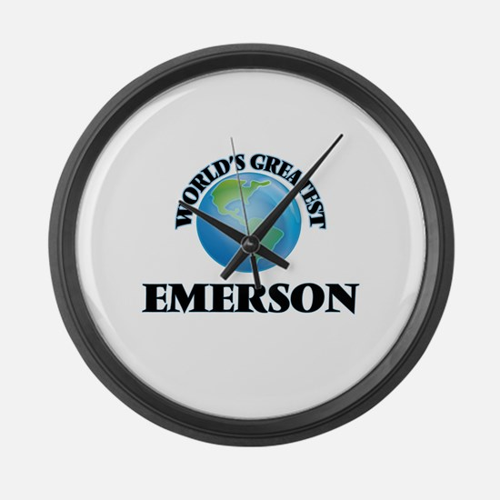 World's Greatest Emerson Large Wall Clock