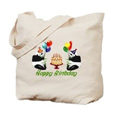 Birthday Pandas Tote Bag
