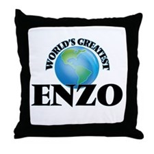 World's Greatest Enzo Throw Pillow