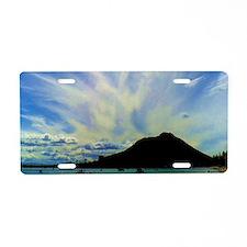 Cloudy Sky Aluminum License Plate