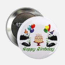 Birthday Pandas Button