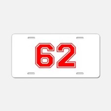 62-var Aluminum License Plate