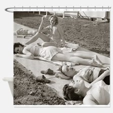Girls Sunbathing, 1943 Shower Curtain