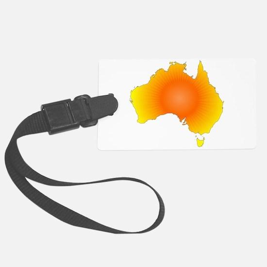 Sunny Australia Map Luggage Tag