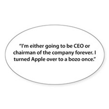 CEO til the End Oval Decal
