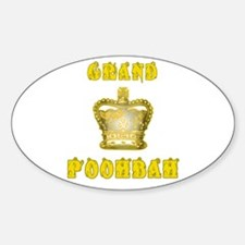 Fathers Day Grand Poohbah Oval Decal
