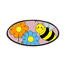 Bumble Bees Flowers Hearts Patches