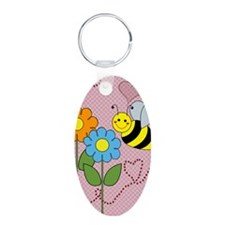 Bumble Bees Flowers Hearts Keychains