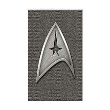 Star Trek Insignia Metal Stickers