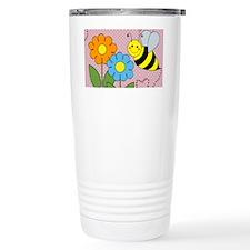 Bumble Bees Flowers Hea Travel Mug