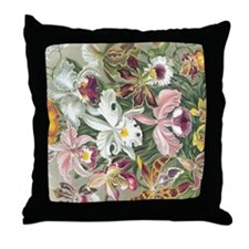 Orchidae Flowers Throw Pillow
